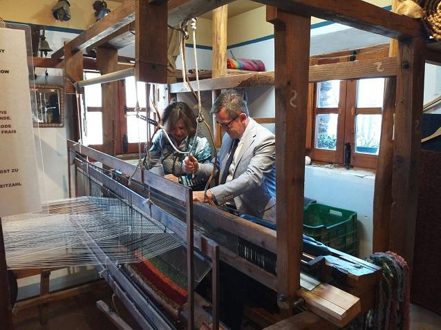 El telar artesanal Hilacar.