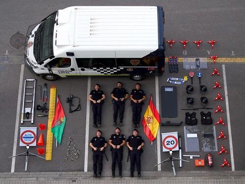 Imagen con la que la Policía Local se ha sumado al 'Tetris challenge'.