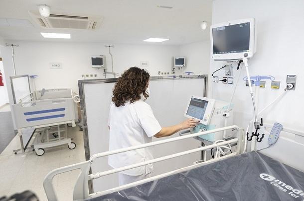 Instalaciones de la UCI acondicionada en el Doctor Olóriz.