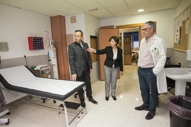 Responsables sanitarios, en el centro de salud Zaidín-Centro.