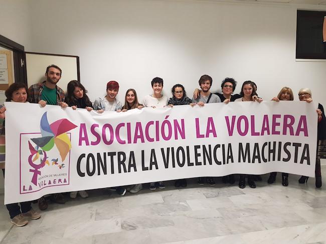 Integrantes de la asociación La Volaera, una referencia para ayudar a las víctimas de las violencias machistas.