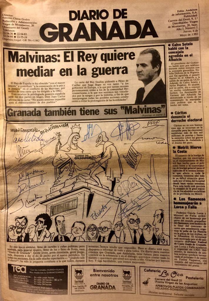Primer número de Diario de Granada.