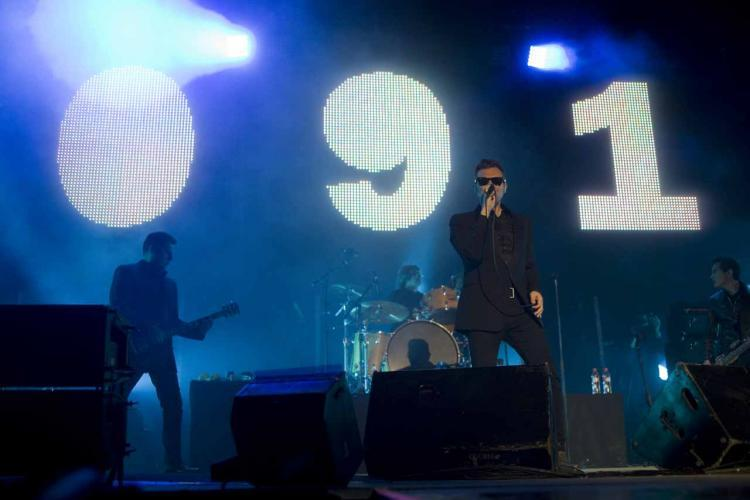 El grupo 091, durante una de sus actuaciones en la Plaza de Toros.