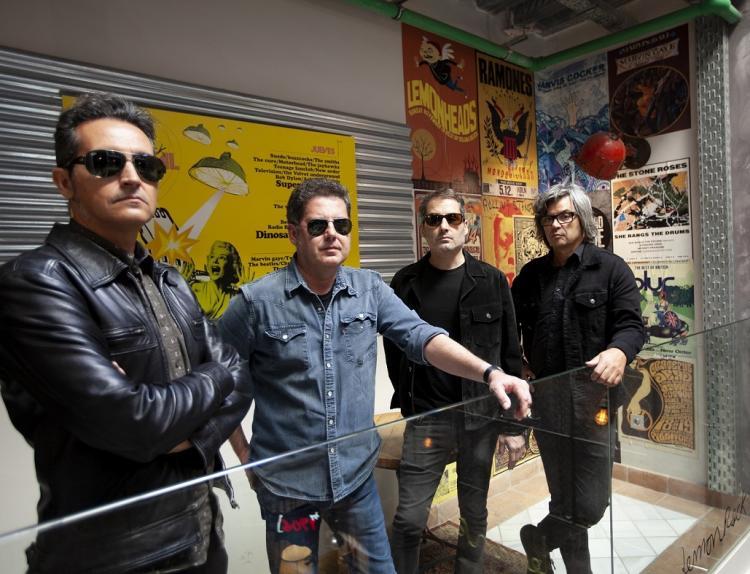 De izqda. a derecha, Jacinto Ríos, José Ignacio Lapido, Víctor Lapido y Tacho González.