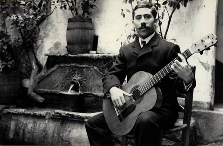 Retrato de Ángel Barrios fechado en 1905.