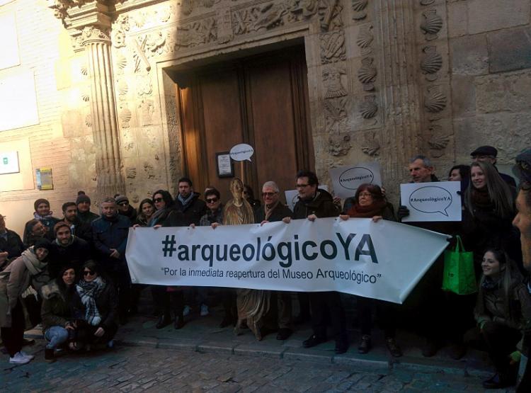 Imagen de la concentración celebrada este sábado, con la que ponen fin a tres años de movilizaciones mensuales.