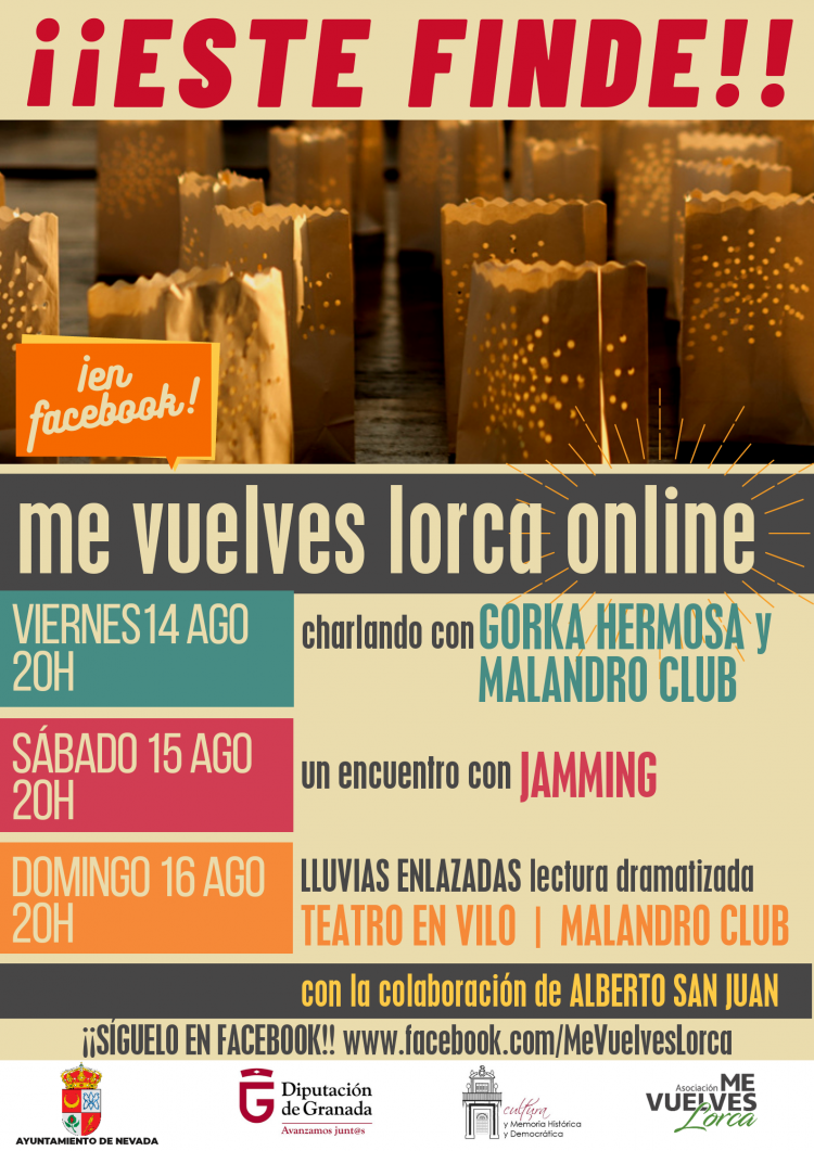 Cartel del festival on line.