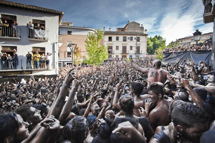Una imagen de la fiesta del Cascamorras.