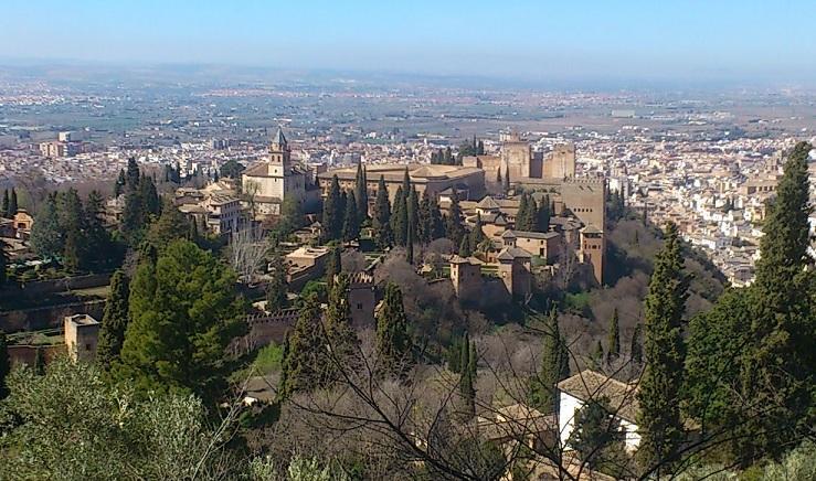 Vista de la Alhambra desde la Silla del Moro.