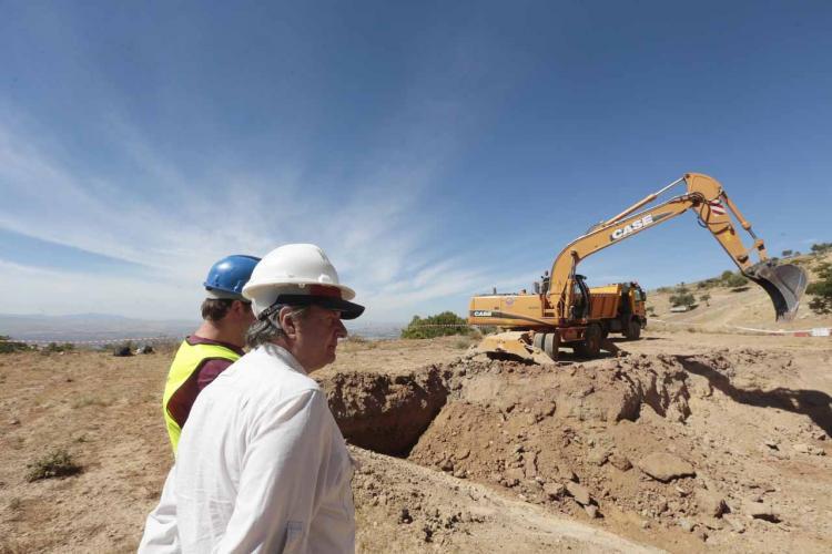 Imagen del primer día de las excavaciones.
