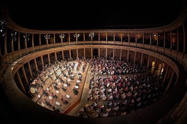 Concierto en el Palacio de Carlos V en julio del pasado año.