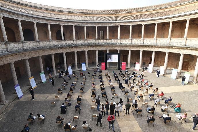 Presentación del Festival de Granada en el Palacio de Carlos V.