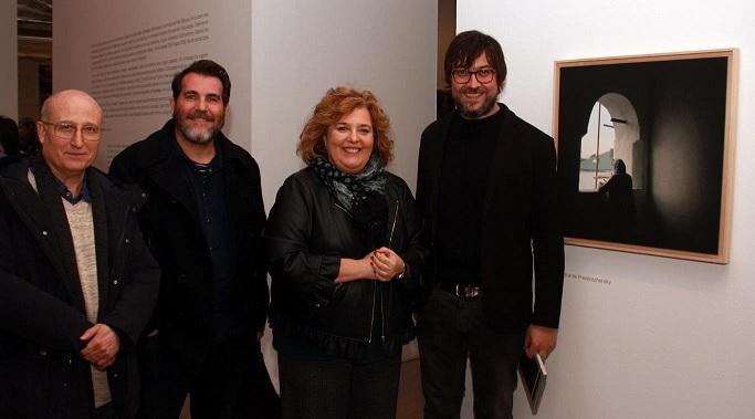 Juan Manuel Castro Prieto (primero por la izqda.) y Rafael Trapiello, a la derecha.