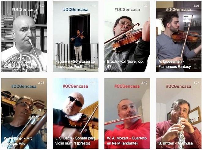 Músicos de la OCG que actúan en las redes.