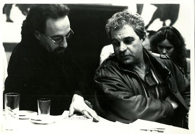 Javier Egea con Juan Marsé en El Sota, en una imagen de 1985.