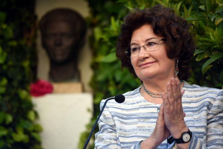 Antonina Rodrigo en el 40 aniversario del '5 a las 5'.