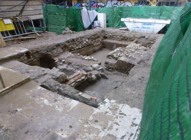 Restos encontrados en la calle Laurel Alta del Boquerón.