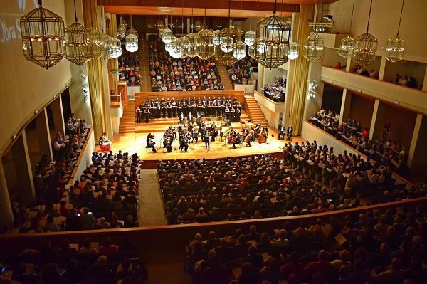 Imagen de un concierto de la OCG en el Auditorio Falla.