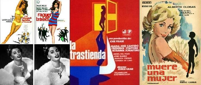 Algunos carteles y escenas de películas censuras, con La Trastienda, que ofreció el primer desnudo integral, por la Cantudo.