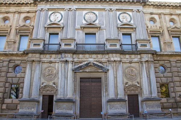 Palacio de Carlos V cerrado, el pasado 16 de noviembre.
