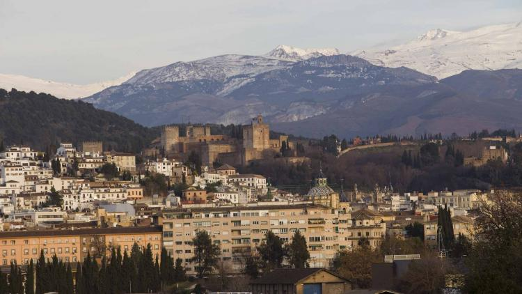 Vista de la Alhambra desde el Camino de Ronda.