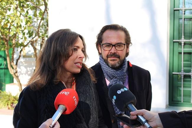 Rocío Díaz y Antonio Granados en la Huerta de San Vicente.