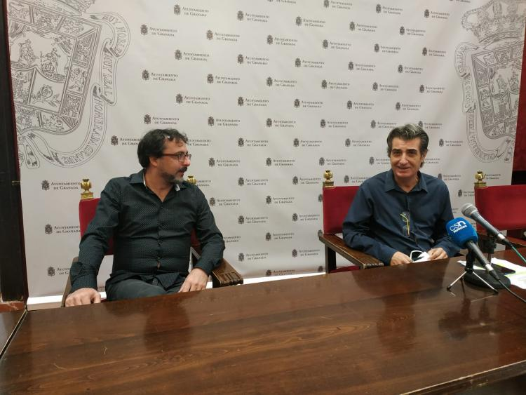 Antonio Cambril con Francisco Ballesteros.
