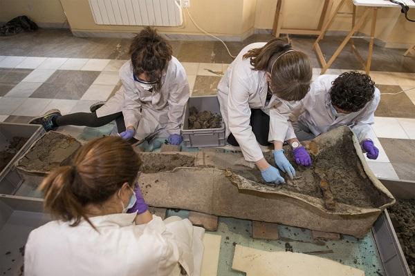 Trabajos en el Museo Arqueológico.