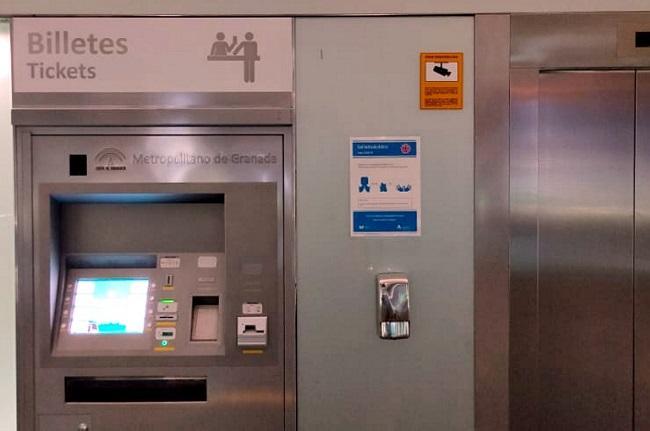 Señalización del Metro para la desescalada.