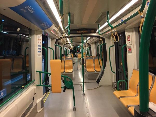 Imagen del Metro en los primeros días del estado de alarma.