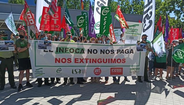 Acto de protesta frente a la Delegación de la Junta en Almanjáyar.