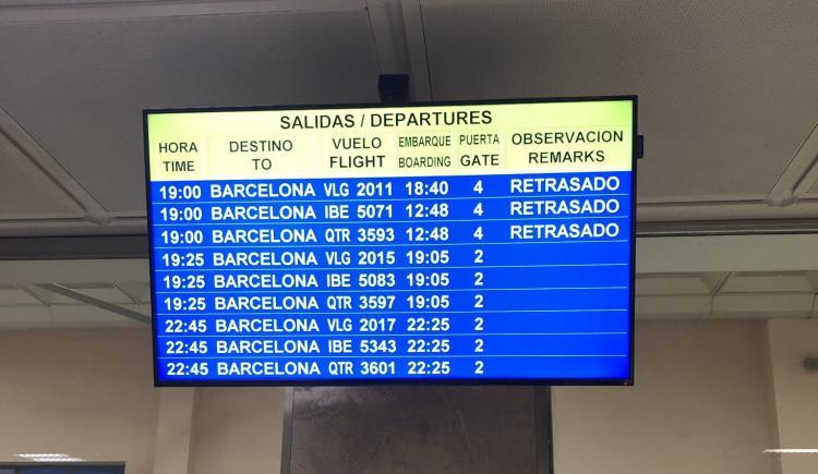 Panel del Aeropuerto, esta tarde.