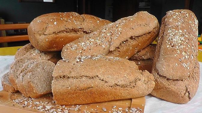 Piezas de pan integral, en una imagen de archivo.