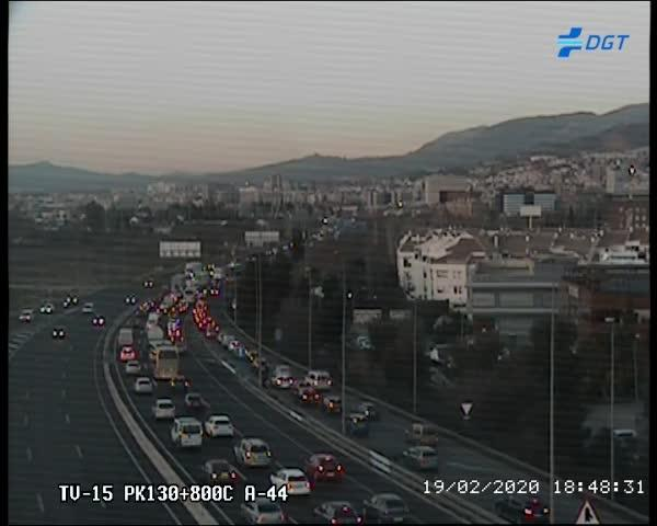El tráfico se empieza a desatascar en la Circunvalación, en una imagen de las 18.48 h.
