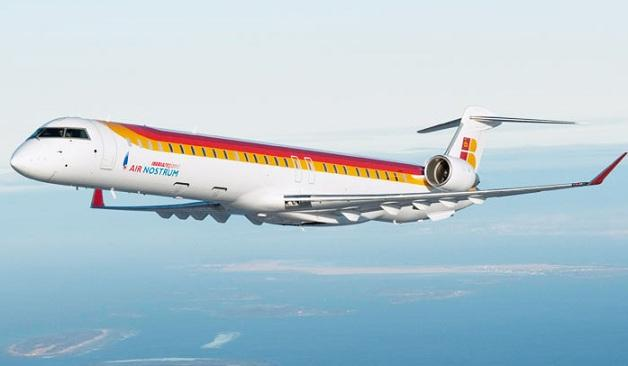 Reactor CRJ de la filial de Iberia Air Nostrum.
