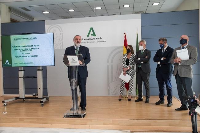Pablo García, ente los responsables de los organismos implicados.