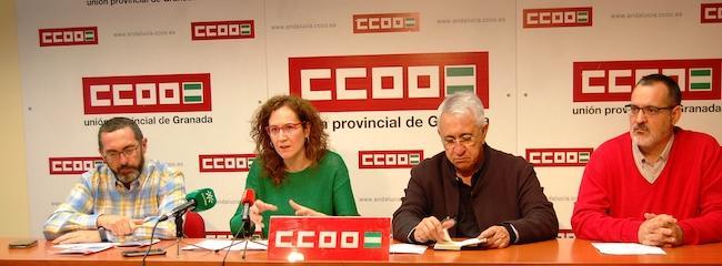 Rueda de prensa celebrada este jueves en Granada.
