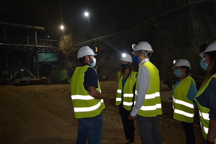 Visita a la explotación minera de Órgiva.