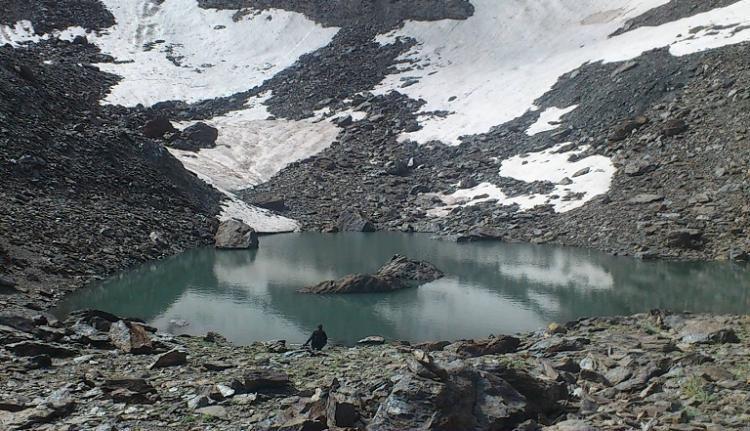 Laguna del Corral del Veleta, que será visitada por los participantes.