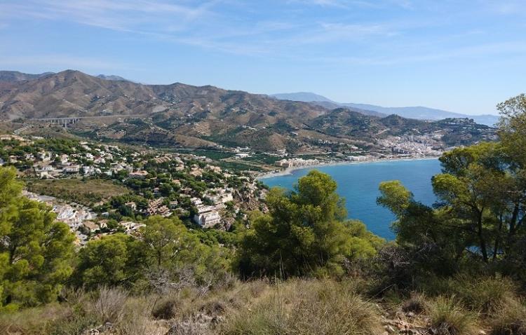 Vista de La Herradura y la A-/ desde Cerro Gordo.