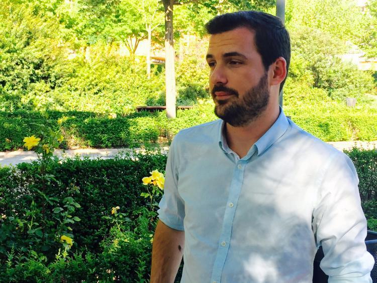 Eduardo Garzón, el pasado jueves en Granada.