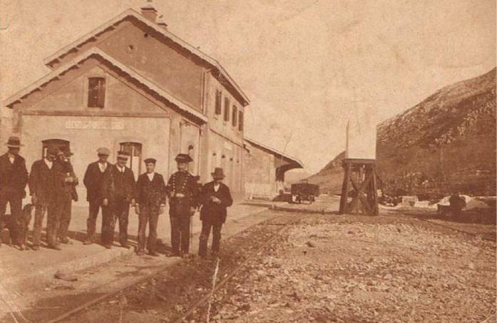 Estación de Ventas de Zafarraya cuando fue inaugurada en 1928.