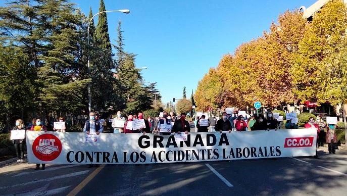 Concentración sindical de protesta este lunes.