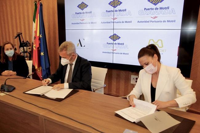 El presidente del Puerto y la presidenta de la Asociación de Comerciantes.
