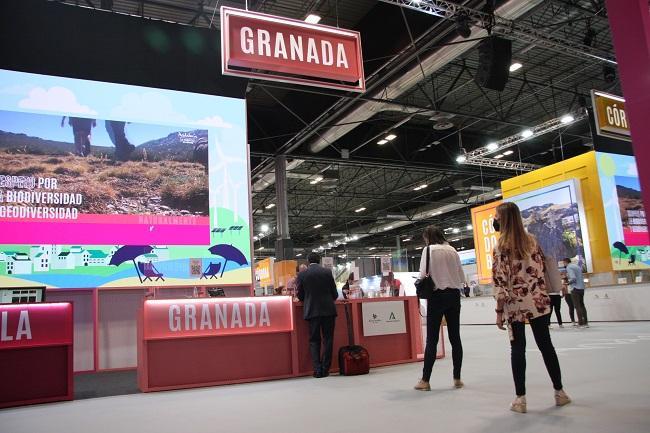 Expositor de Granada en Fitur 2021.