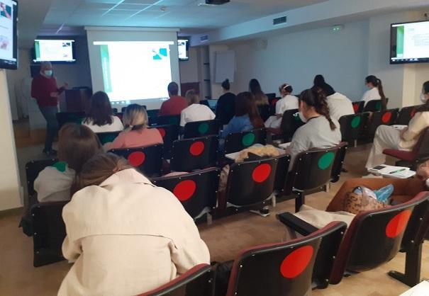Imagen de una de las clases presenciales.