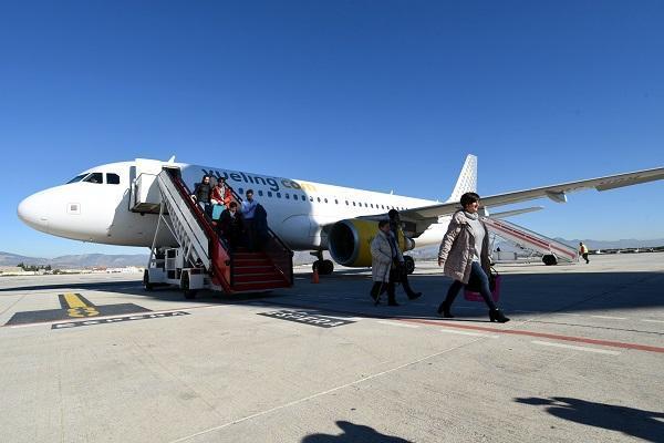 Imagen del primer vuelo procedente de Bilbao el pasado 1 de diciembre.