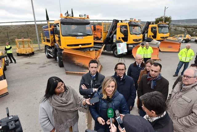 Presentación del dispositivo invernal para las carreteras.