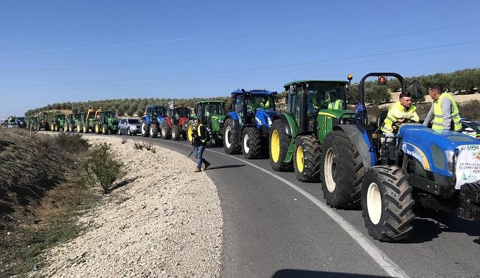 Tractorada este viernes en Lucena (Córdoba).