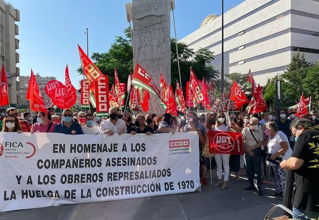 Homenaje a los obreros asesinados en la Huelga de la Construcción del 70.